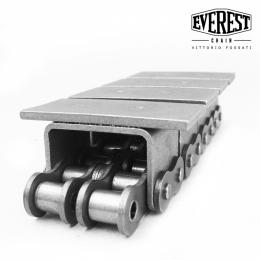 U-cıvatalı ve kaynaklı üst plakalı ASA60 / 2 zincir
