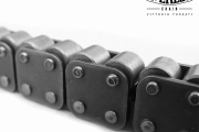 Chains with two carrier rollers on top